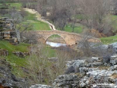 Cañón Caracena; Encina  Valderromán; sierras de la comunidad de madrid libros de senderismo organ